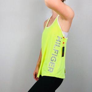 Tommy Hilfiger Sport   Neon Yellow Razor Back Tank